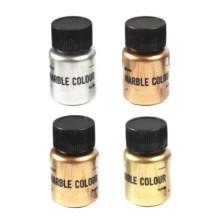 Blizgių metalinių pigmentų rinkinys 15g x 4 vnt.