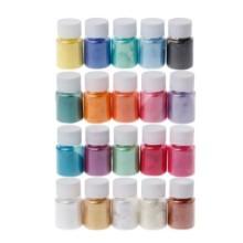 Blizgių pigmentų rinkinys 10g x 20 vnt.