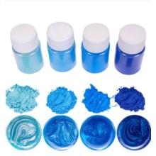 """Blizgių pigmentų rinkinys 10g x 4 vnt. - """"Mėlyni atspalviai"""""""