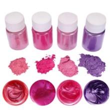 """Blizgių pigmentų rinkinys 10g x 4 vnt. - """"Rožiniai atspalviai"""""""