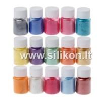 Blizgių pigmentų rinkinys 10g x15 vnt.