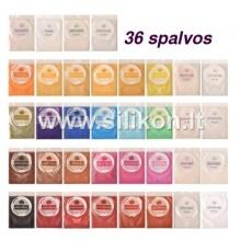 Blizgių pigmentų rinkinys 5gx36 vnt.