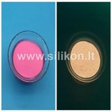 Fosforo milteliai -  Ryški rožinė Nr. 8 (Tamsoje švyti aukso spalva) 50g