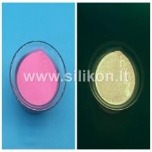 Fosforo milteliai - Švelni rožinė Nr. 9 (Tamsoje švyti aukso spalva) 50g