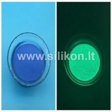 Fosforo milteliai - Tamsiai mėlyna Nr. 4 (Tamsoje švyti žalia spalva) 50g