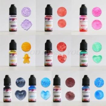 Skystų pigmentų su alkoholiu rinkinys