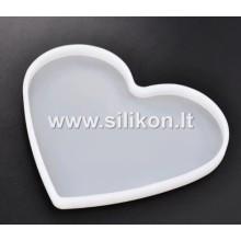 Silikoninė forma - Širdelė 15.7x13.3x1.1