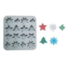 Silikoninė muilo forma - Kalėdinės dekoracijos Nr.9