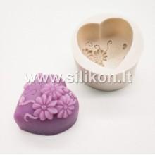 Silikoninė muilo forma - Širdelė Nr.1