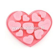Silikoninė muilo forma - Širdelės Nr.15